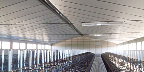 Isolation plafonds pour bâtiments agricoles et industriels