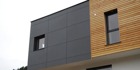 Bardage Panneaux stratifiés compact - Agence Connan