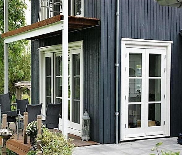 Facade maison anthracite Clin Bois Cape Cod