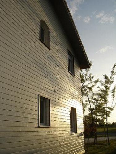Facade maison crème Clin Bois Cape Cod