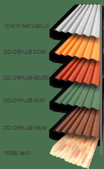 coloris Plaque ondulée fibres-ciment