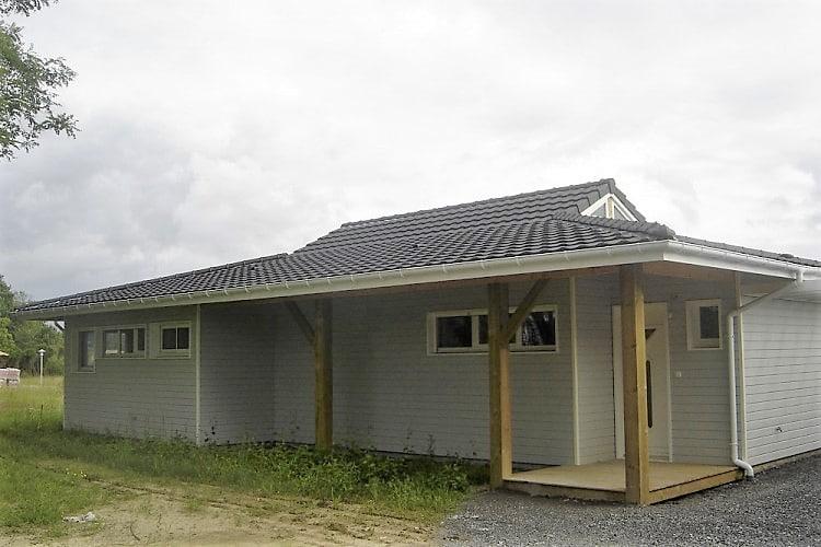Facade maison gris Clin Bois Cape Cod