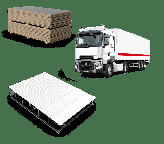 Palette Transport matériaux de construction - Agence Connan